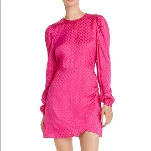 Puff-Sleeve Polka Dot Dress